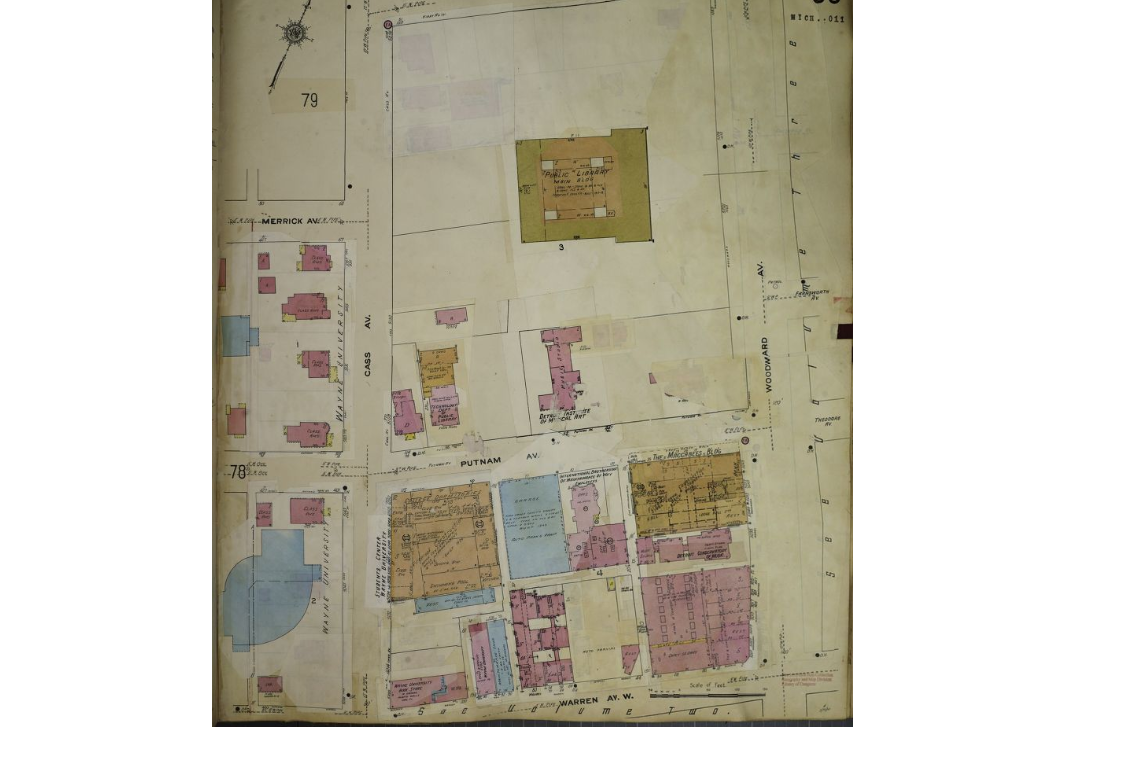 Historical Data Map: Detroit Public Library