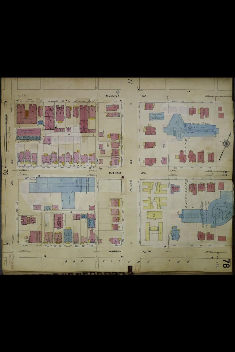 Historical Data Map: Wayne State University