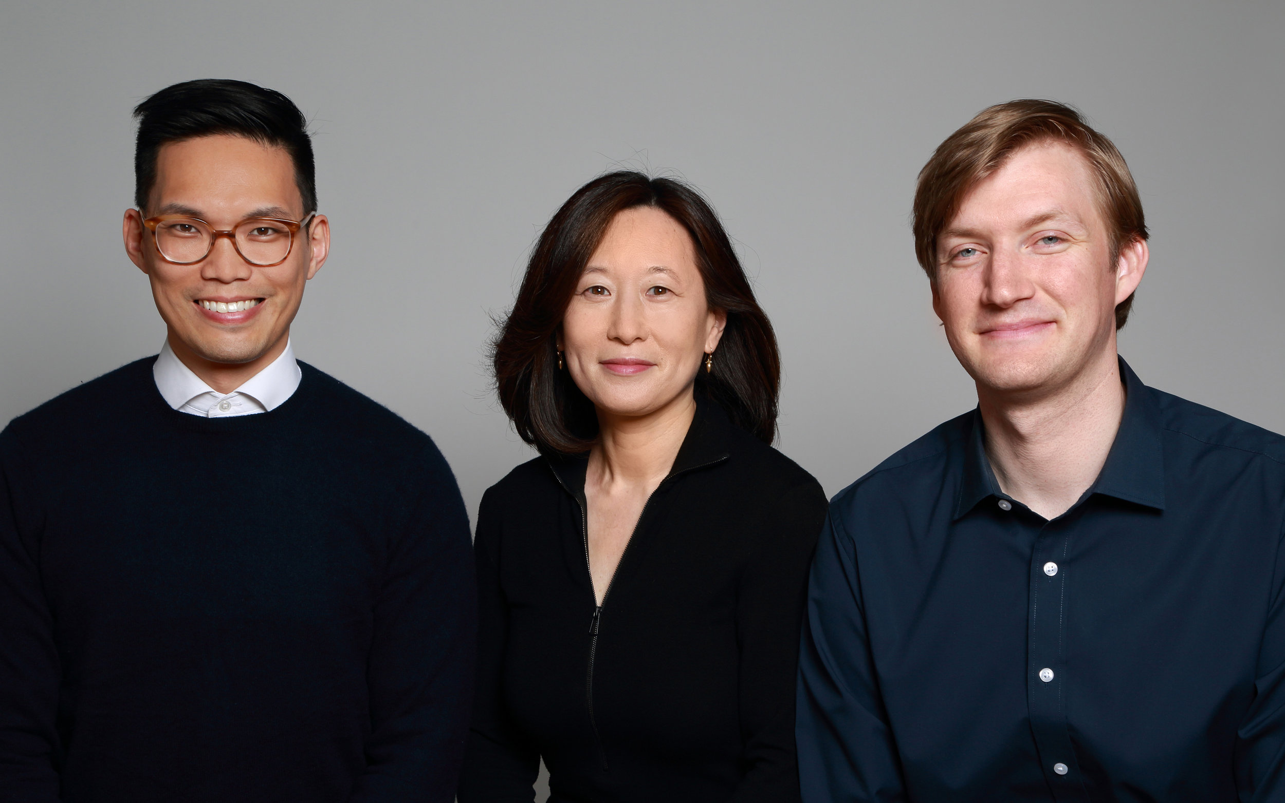 Left to right: Bryan Chou, Mikyoung Kim, and Ian Downing of Mikyoung Kim Design
