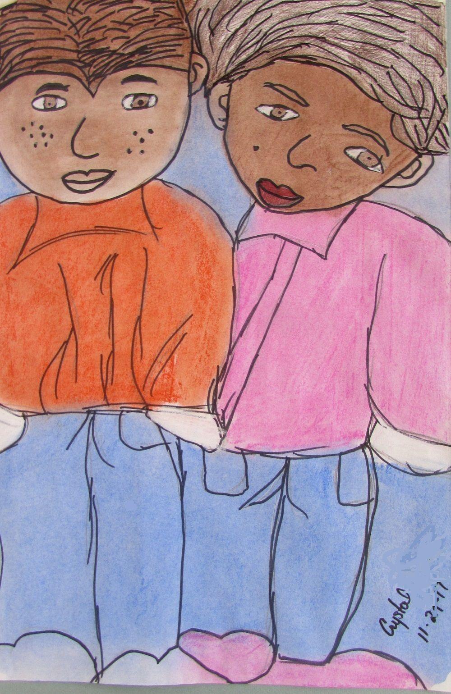 Pastel and Marker on 18x24 Paper Revelation Artist: Crystal L.