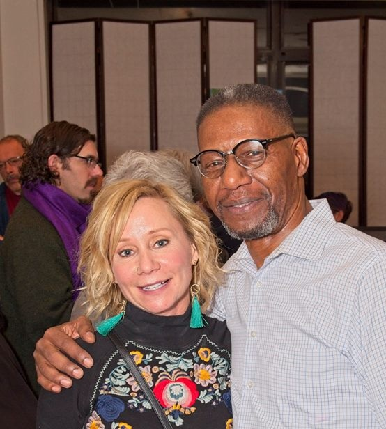 "Photographer Michele Ashlee and Artist Richmond Futch, Jr at the "" Out of the Shadows"" Artist Reception 10-26-18                                                   PHOTO CREDIT: Chris Bell"