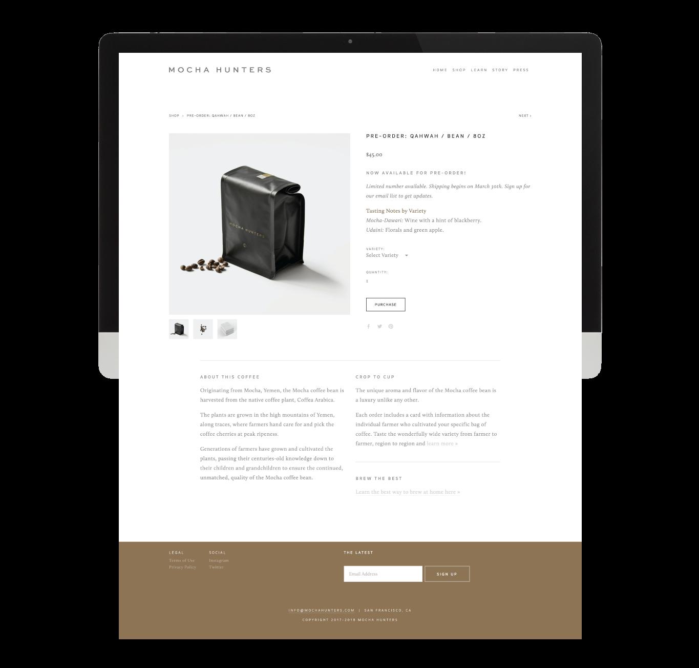 Mocha Hunters Web Design