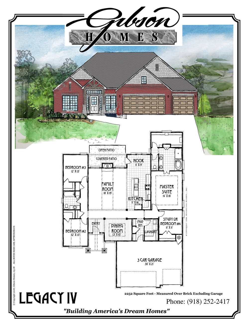 LEGACY IV - 2252 Sq. Feet4 bedrooms2 bathroomsFormal Dining3 car garageBase Price $227,000