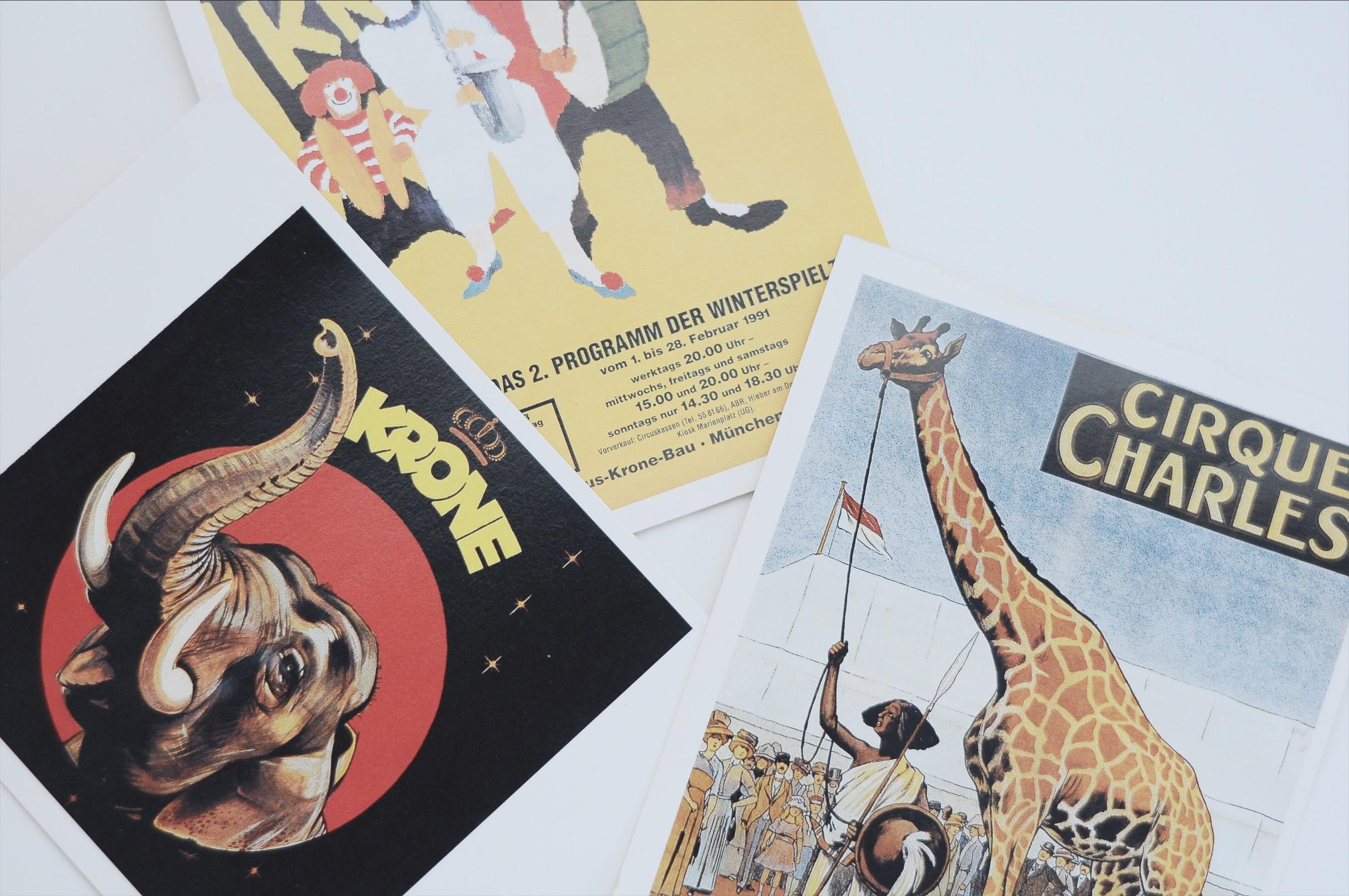 circus postcards