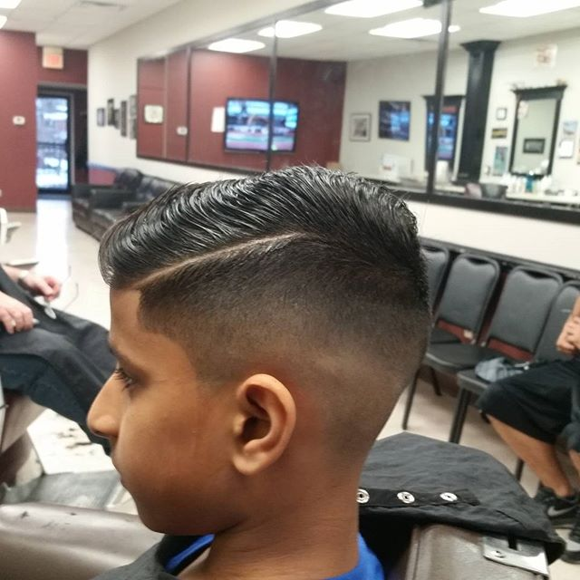 Last customer of the day. Even after a long day a good barber will lace his customers #combover  #fade #kidscuts #njbarbers