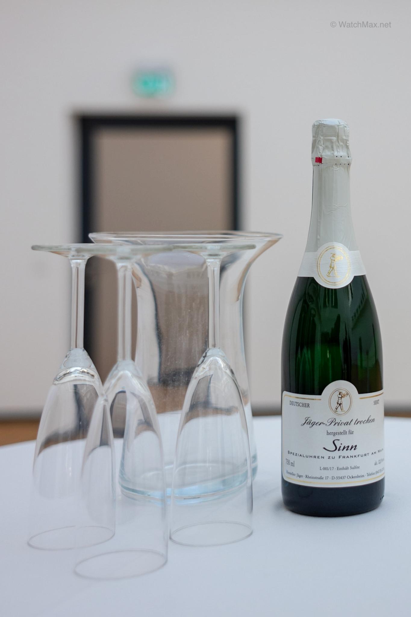 Sinn-branded sparkling wine