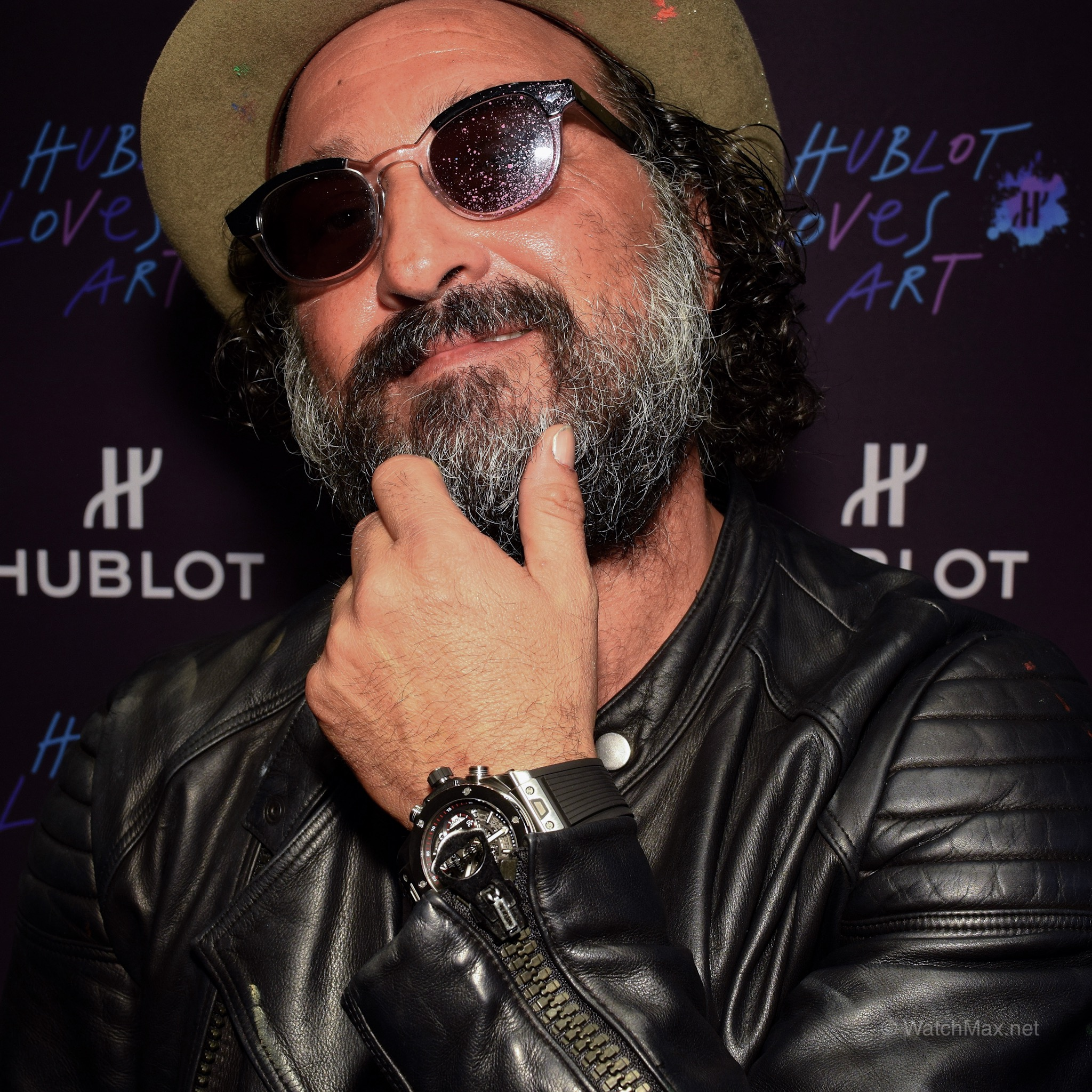 Hublot's collaboration with  Mr. Brainwash  during ArtBasel 2014