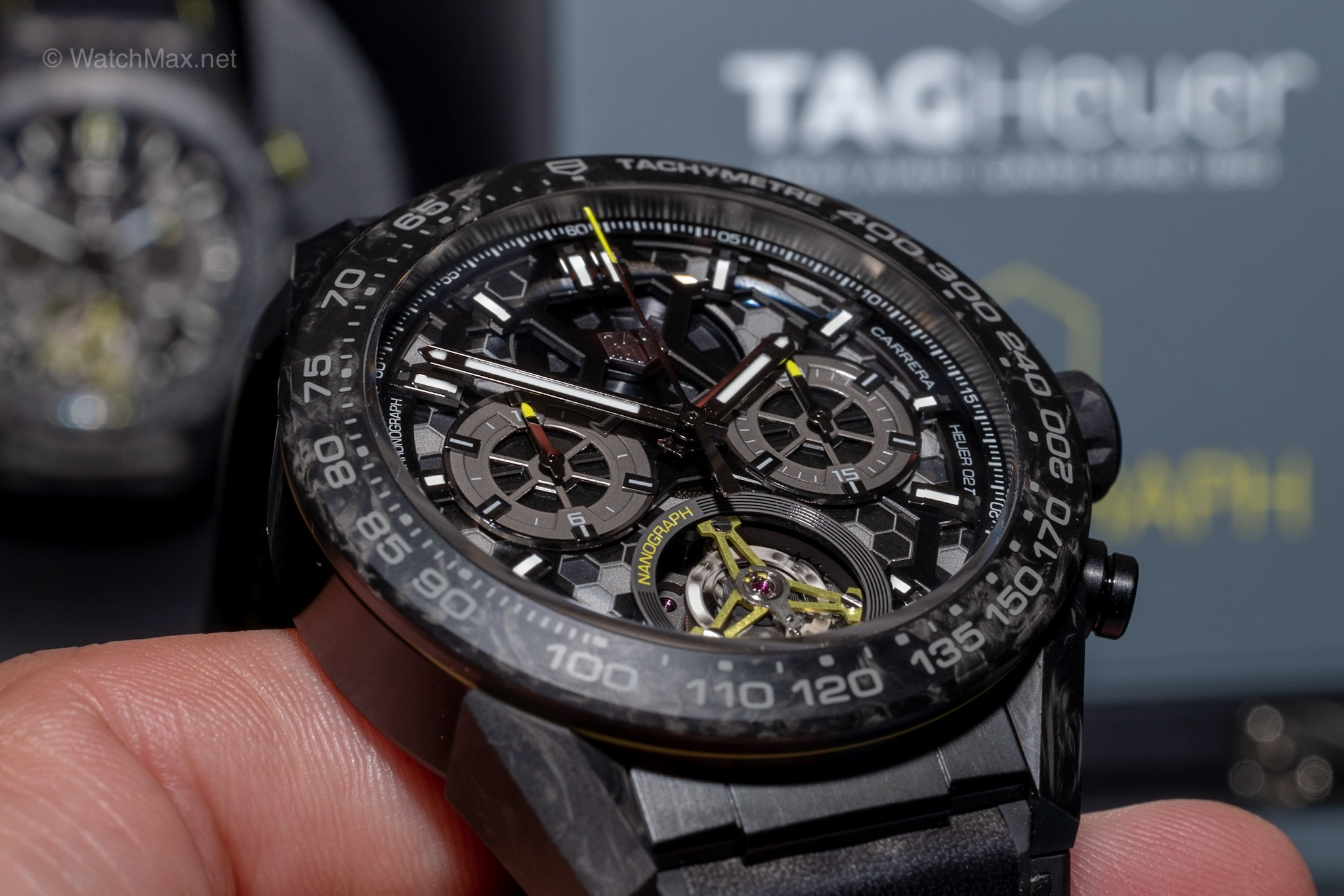 TAG Heuer Nanograph Tourbillon first look @ Geneva Days 2019 - At Geneva Days during SIHH, TAG Heuer showed me the new version of their Carrera Tourbillon watch sporting bold new look with a brand new hairspring made of carbon and nanotubes. Read more