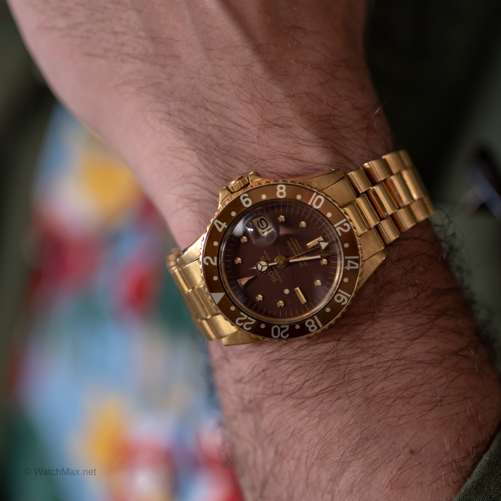 """Vintage Rolex GMT Master """"root beer"""" in full gold"""