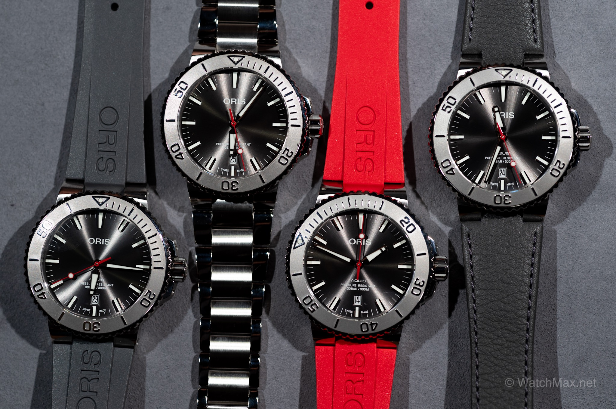 Aquis Date Relief with all the different strap and bracelet options