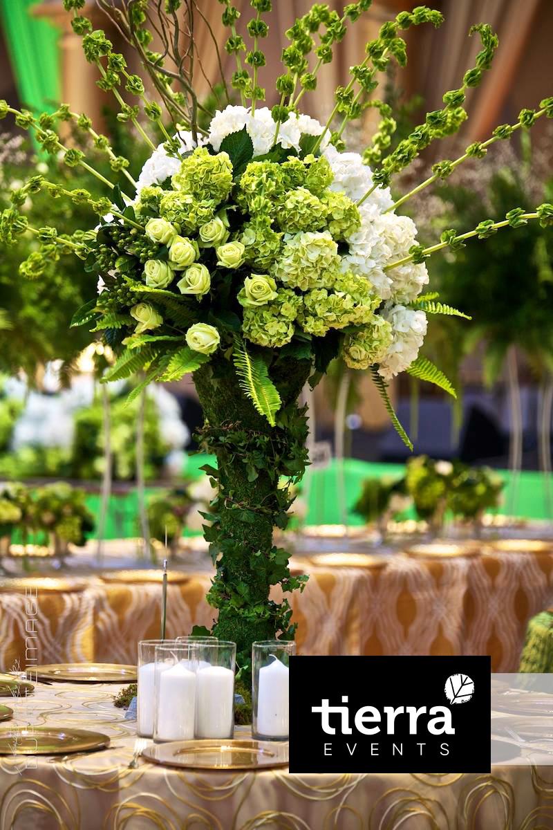 Green Tall Centerpiece