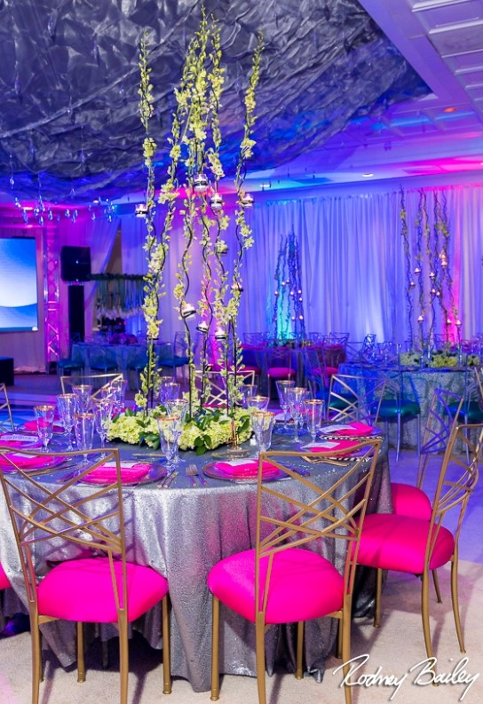 Custom Made Centerpieces for The NACE ILLUSION Gala
