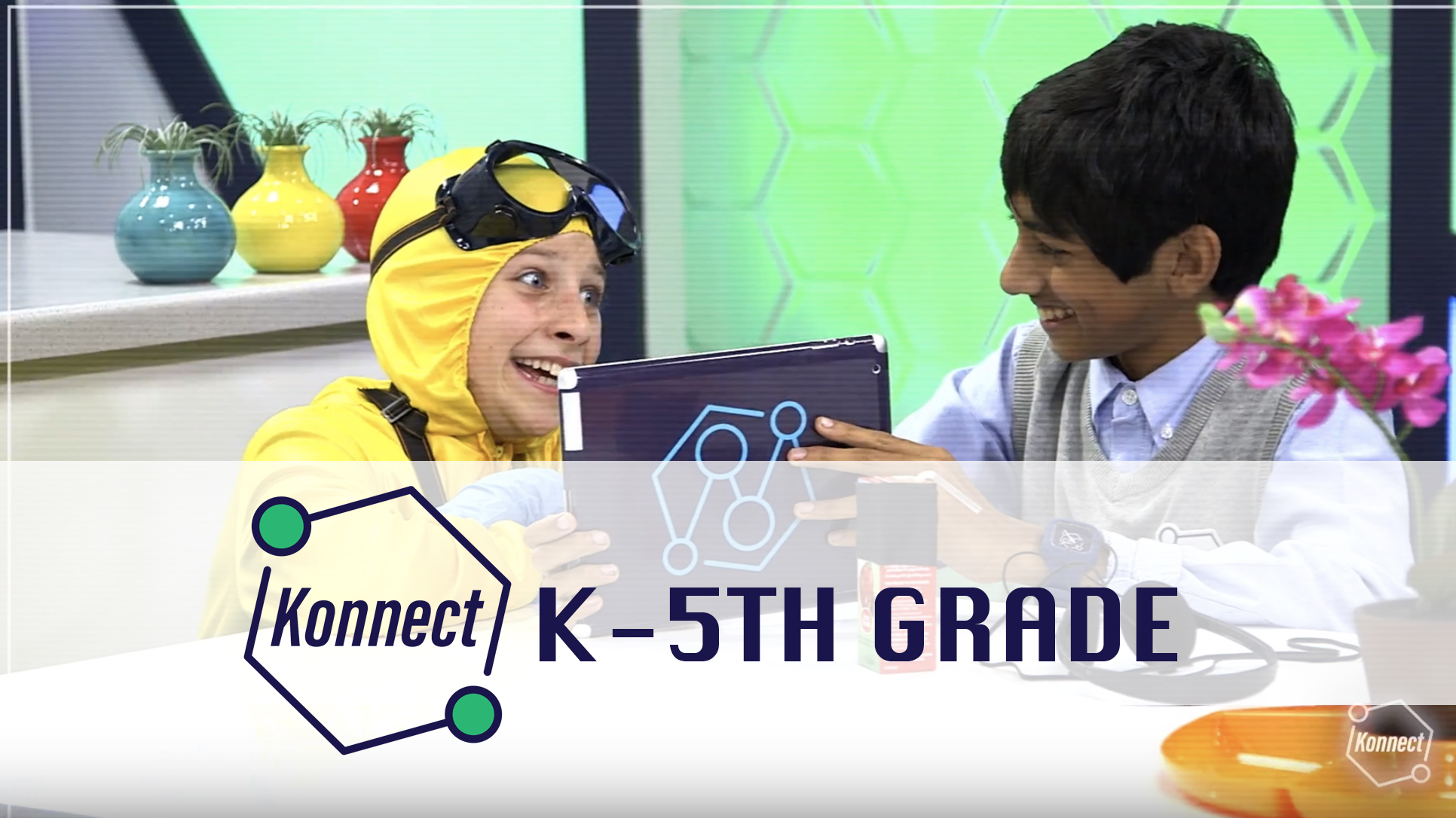 Konnect curriculum for kindergarten - fifth grade! - Konnect is a POWERFUL and COOL way for kids to learn about God through dynamic teaching, worship, and small groups! Every Sunday at 10:15am in the RSE Cafeteria!