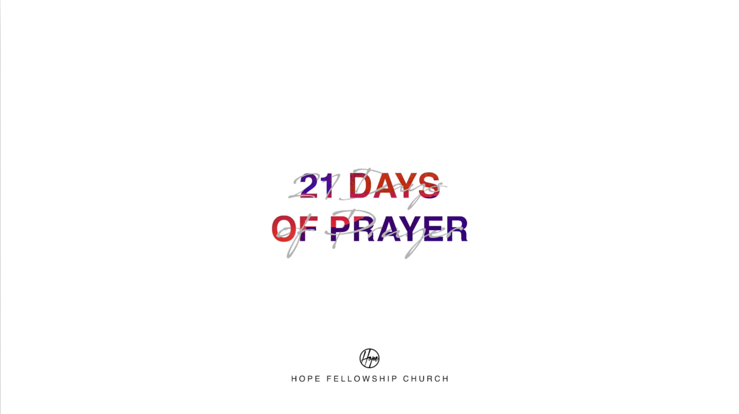 21 Days of Prayer Week 2