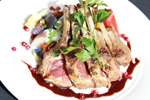 pomegranate lamb chops