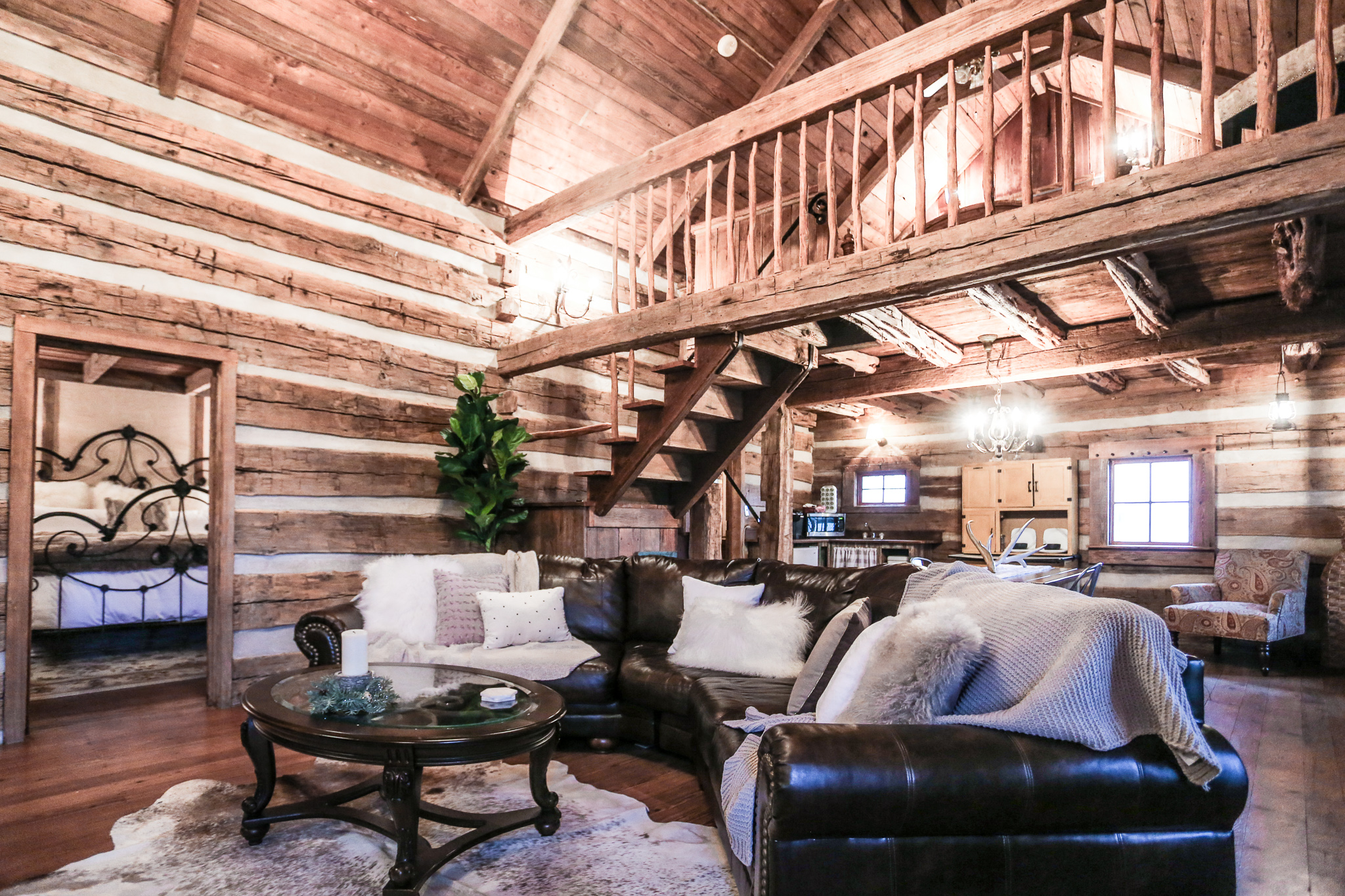 BUCKHORN CABIN - LUXURY 1790'S CABIN 2 BED | 1 BATH   Features: 2 Bedrooms, Hot Tub, Walking Distance, Peaceful Porch