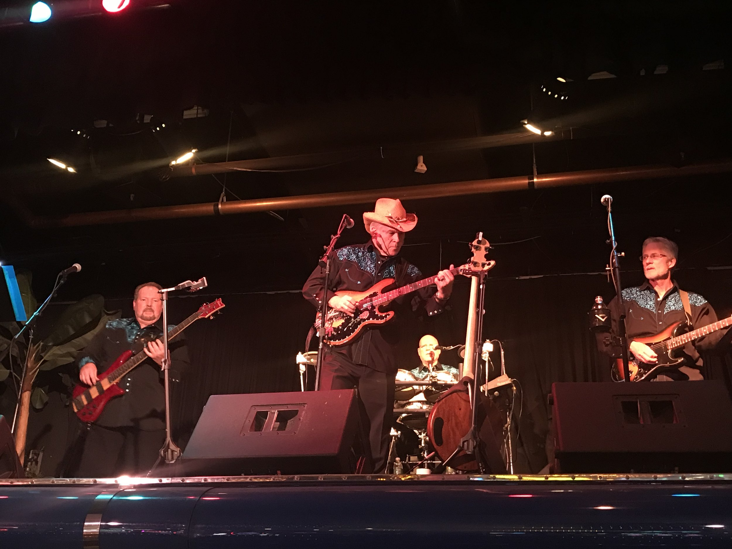 Garry on bass, Joey on guitar, Jhano on drums and Curt on guitar at a show in Carson City at the Fandango Casino.