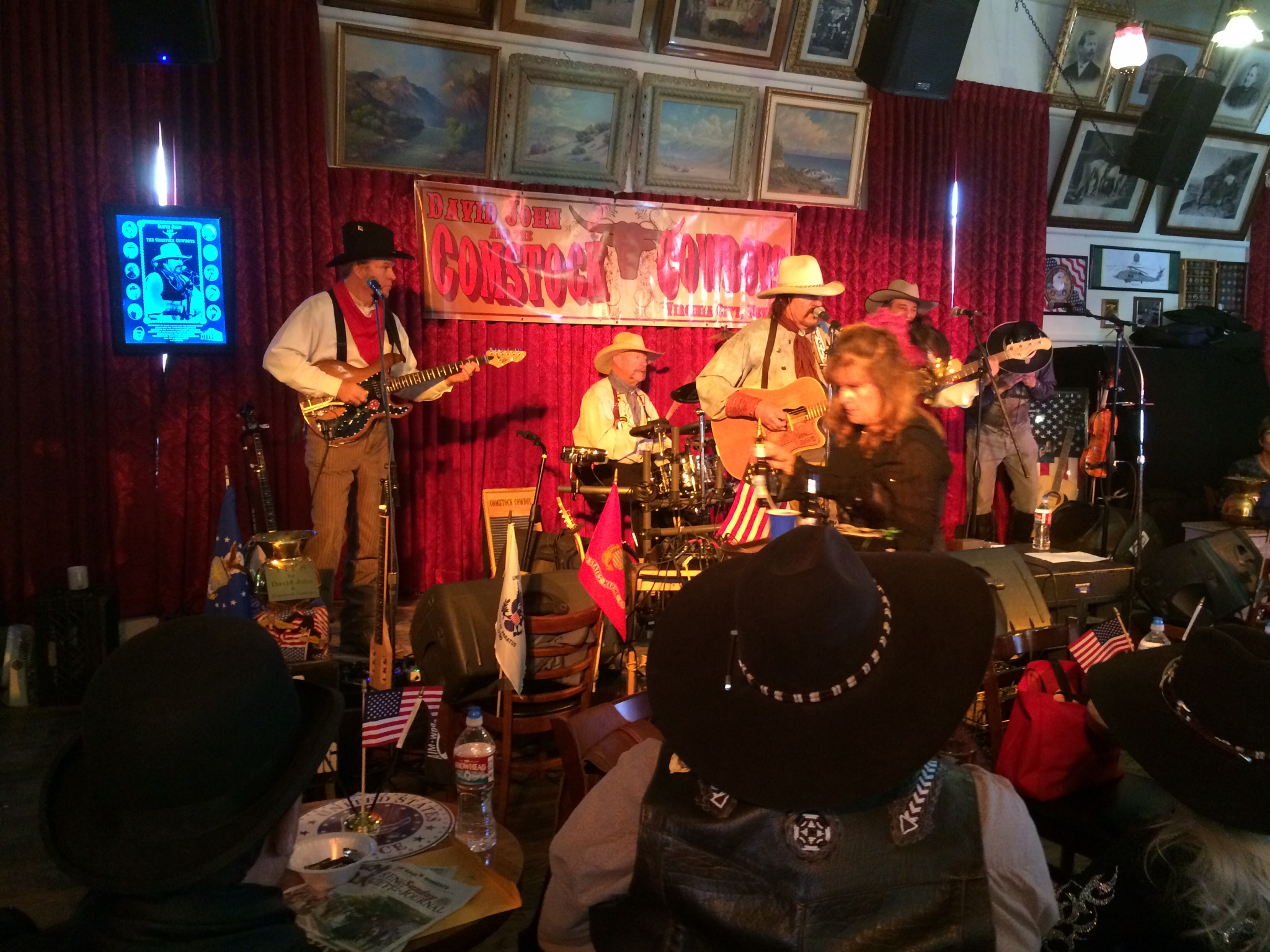 Playing the Bucket of Blood Saloon w/ David John and the Comstock Cowboys