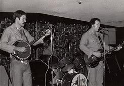 Joey playing banjo backing up Jim Moore in Hawaii.