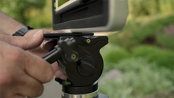 Stabilize - Slide the frame onto our ultra portable combination Tripod/Monopod and lock. No more shaky cam!