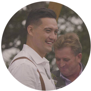 We filmed Nick and Amanda Poole's wedding video in Puhoi, March 2018