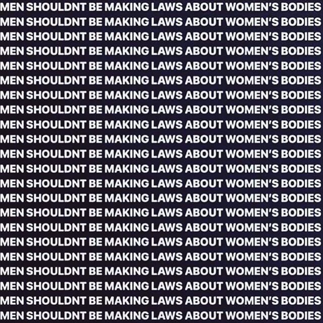 Yah, I have a political opinion. Yah, I am usually shy away from sharing. Yah, PRIVILEGED WHITE MEN have NO place telling me, or any woman, what to do with their bodies.  #abortion #abortionlaws #abortionisawomansright