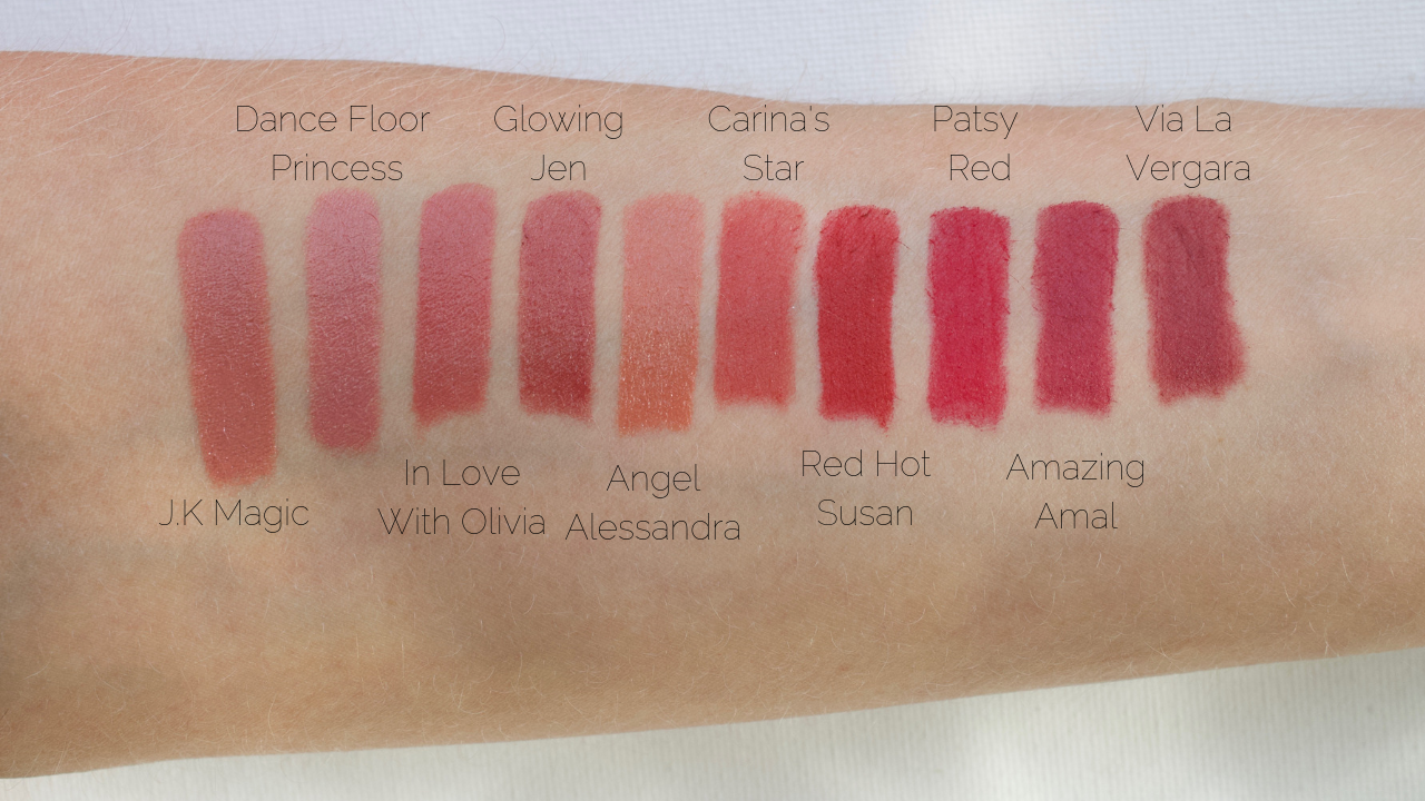 Swatches are in natural lighting and are unedited