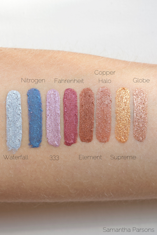 Kosas 10-Second Eyeshadow Swatches (Indirect Natural Light)