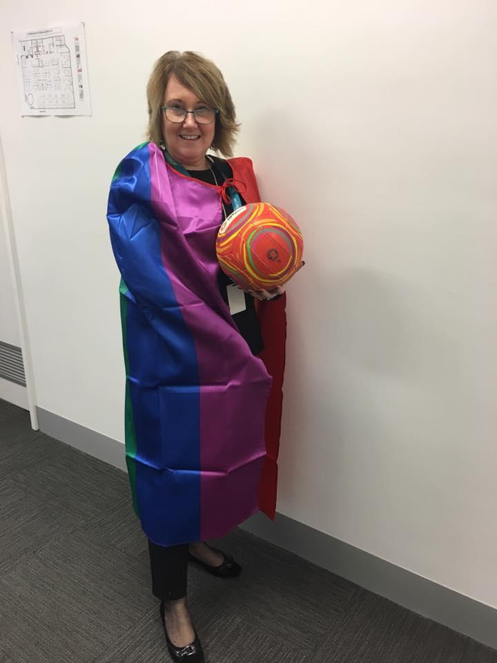 Rainbow Round Proud President Lindy Murphy