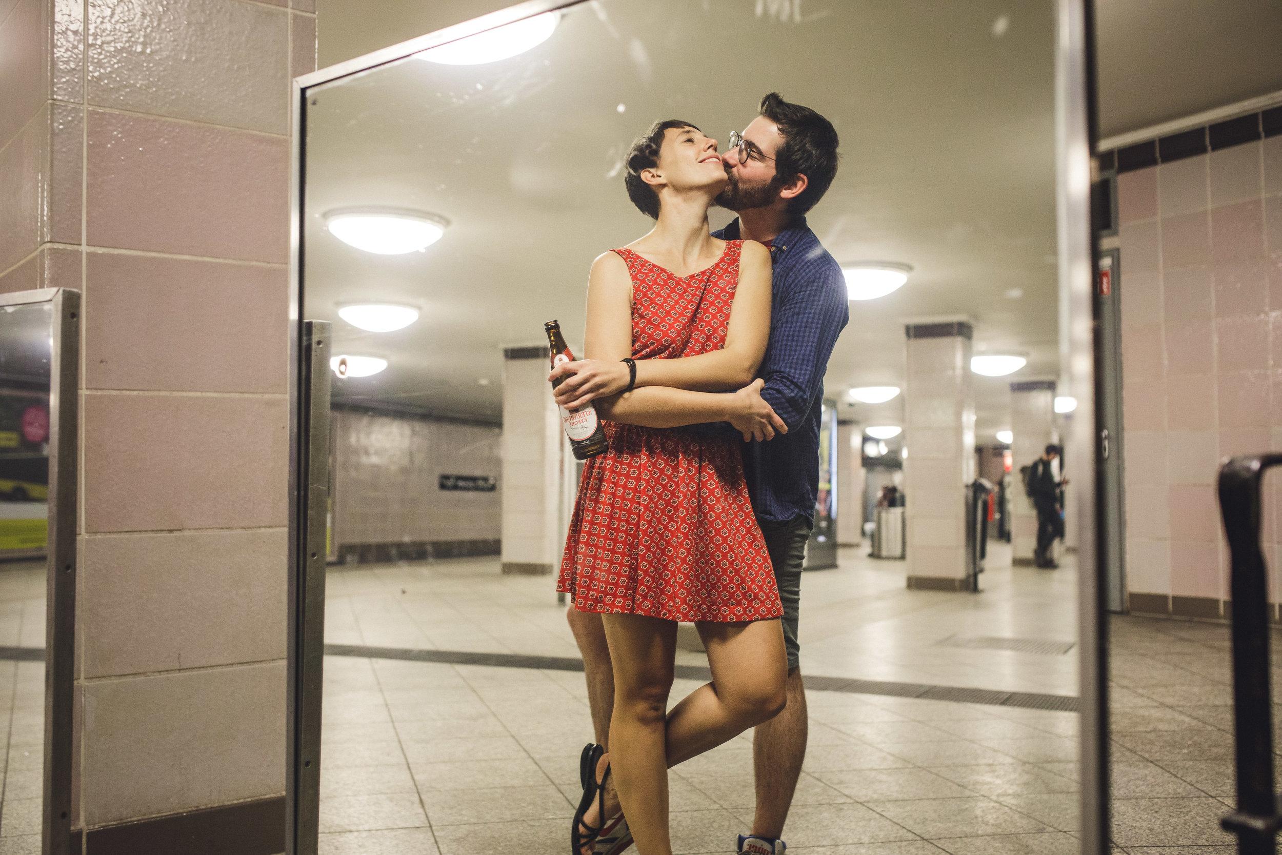 berlin couples session, turkish market berlin, berlin subway couple session, charlotte wedding photographer,