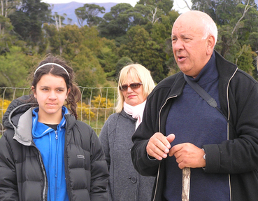 Ken McAnergney - Rarakau landowner and kaumātua (elder), with his family.