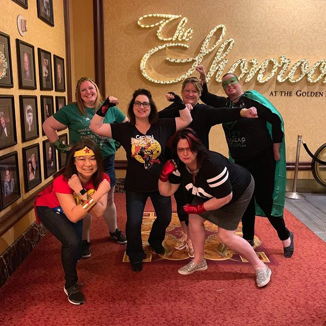 Wishing you 5 amazing friends with whom to go on adventures, save the world and goof around wherever you go in the world! Happy Birthday Megan!  #superheroday #lasvegas #girlstrip #whorunstheworld