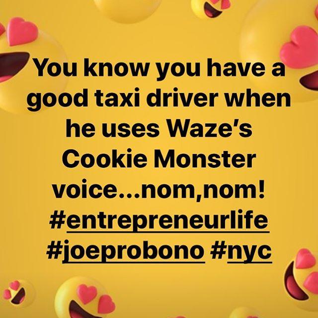 Nom, nom! #waze #nyc #entrepreneur #joeprobono @jbsfinancial @diane_lempert @workrowan