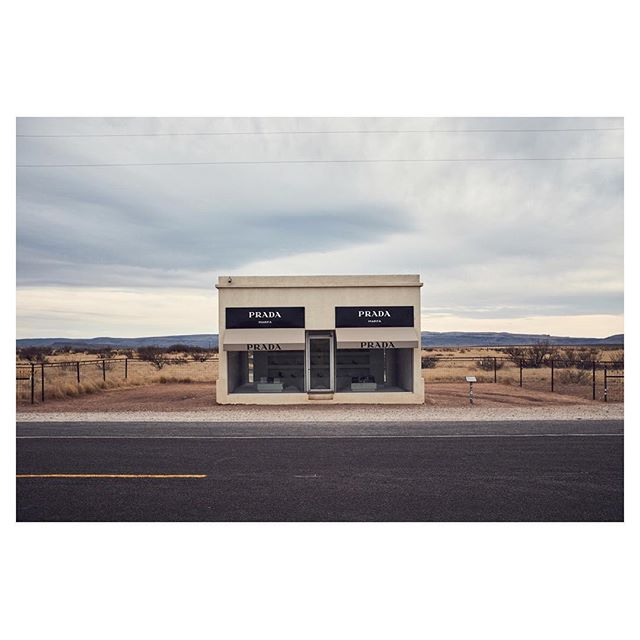 Sculpture by Elmsgreen and Dragset | #Prada #Marfa #PradaMarfa