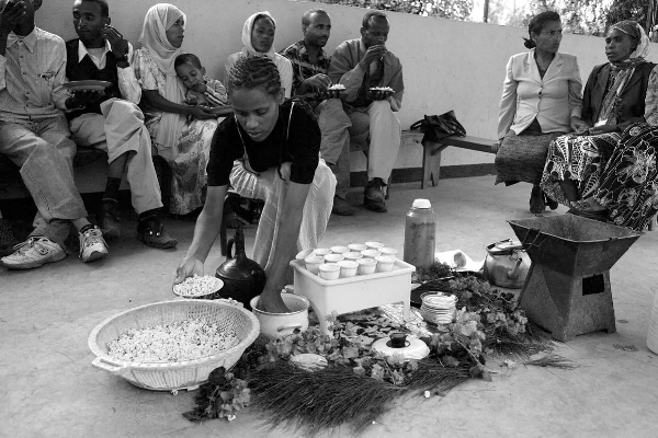 Traditional Coffee Ceremony - Wiki Commons