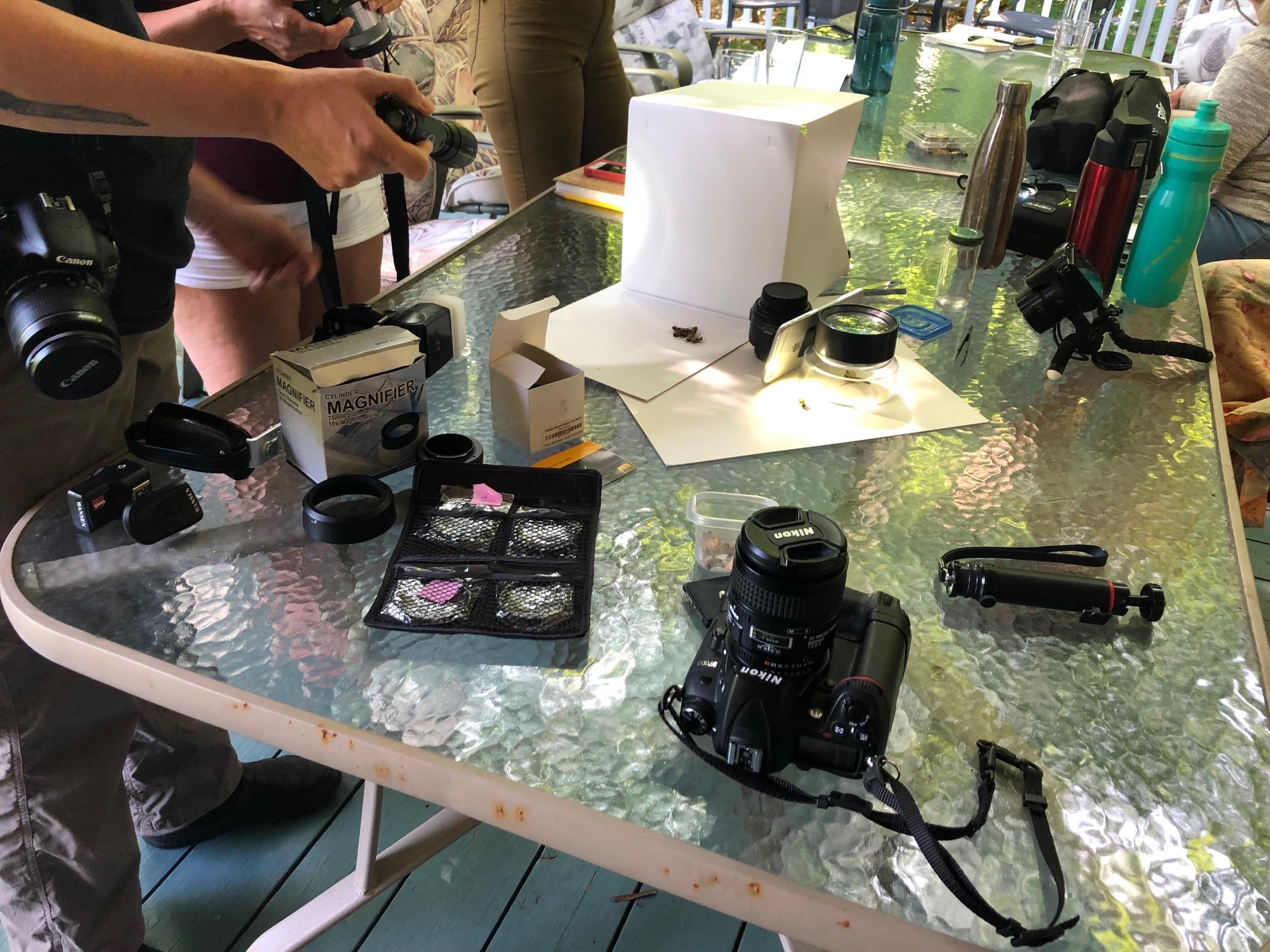 Macro equipment and photo shoot setups