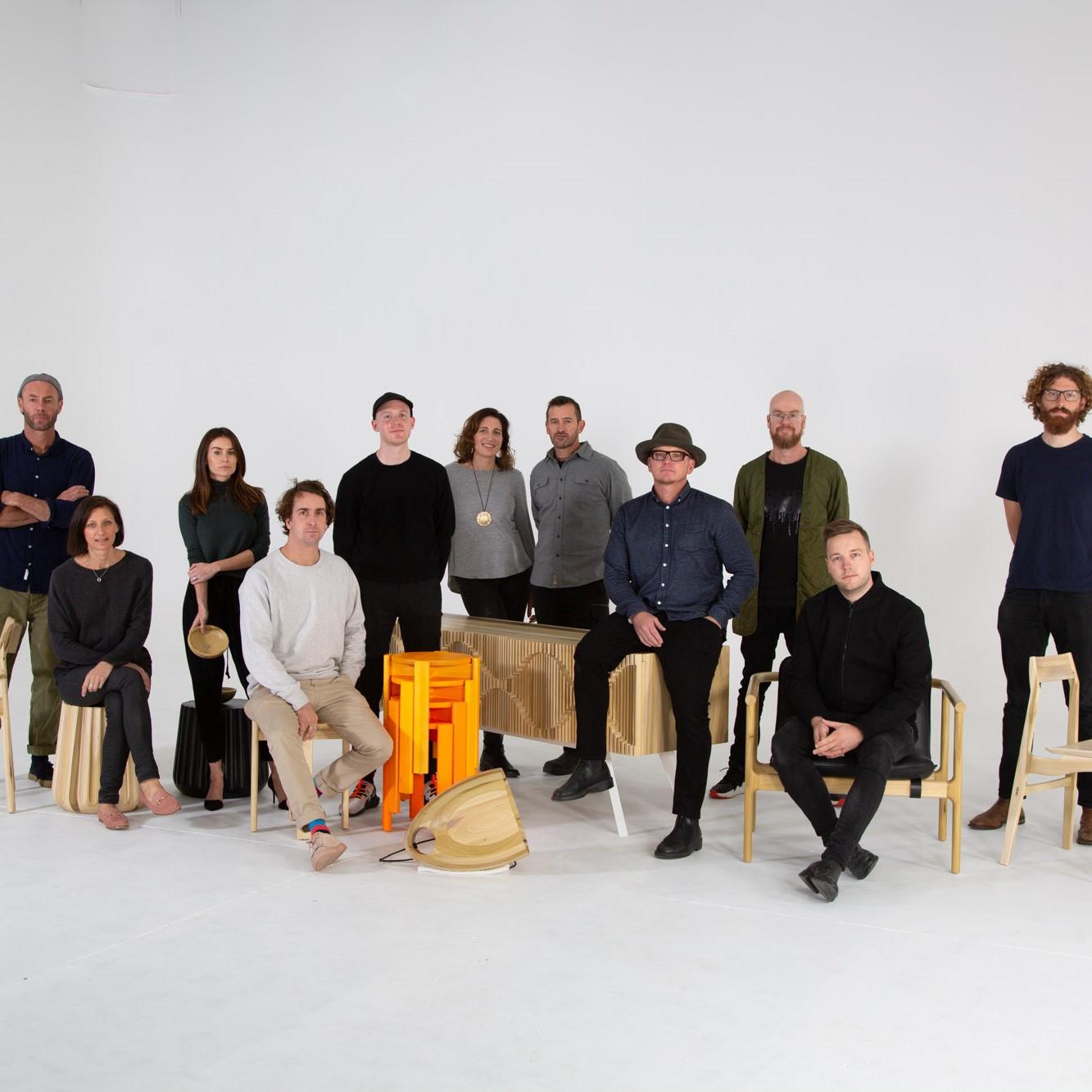 Den Fair with eight iconic Australian designers - Adam Goodrum, Anaca Studio, Marz Designs, Dowel Jones, Jon Gouler, Ross Gardam, Tom Skeehan and Adam Markowitz for  AHEC