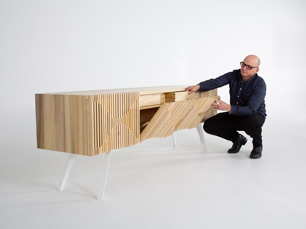 Jon Goulder with the Glissando Credenza available through  Spence & Lyda