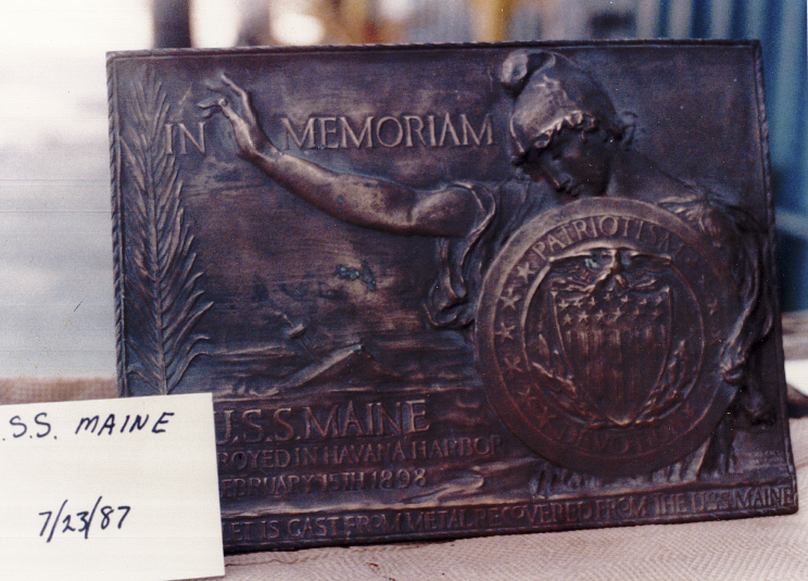 The Lone Sailor statue also includes a fragment of the USS Maine.