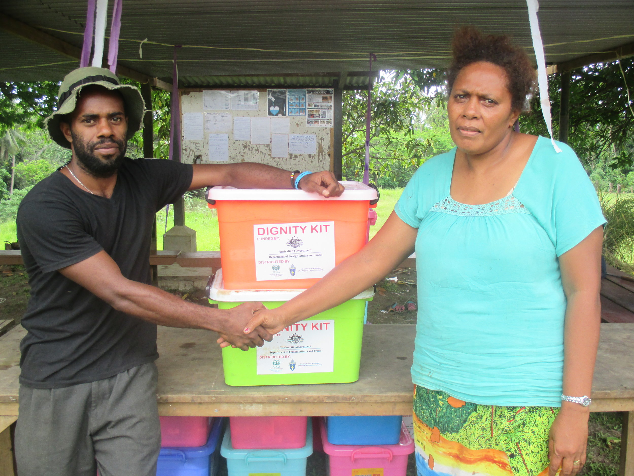 Dignity kits distributed by CAN DO partners in Vanuatu © Caritas Australia/CAN DO
