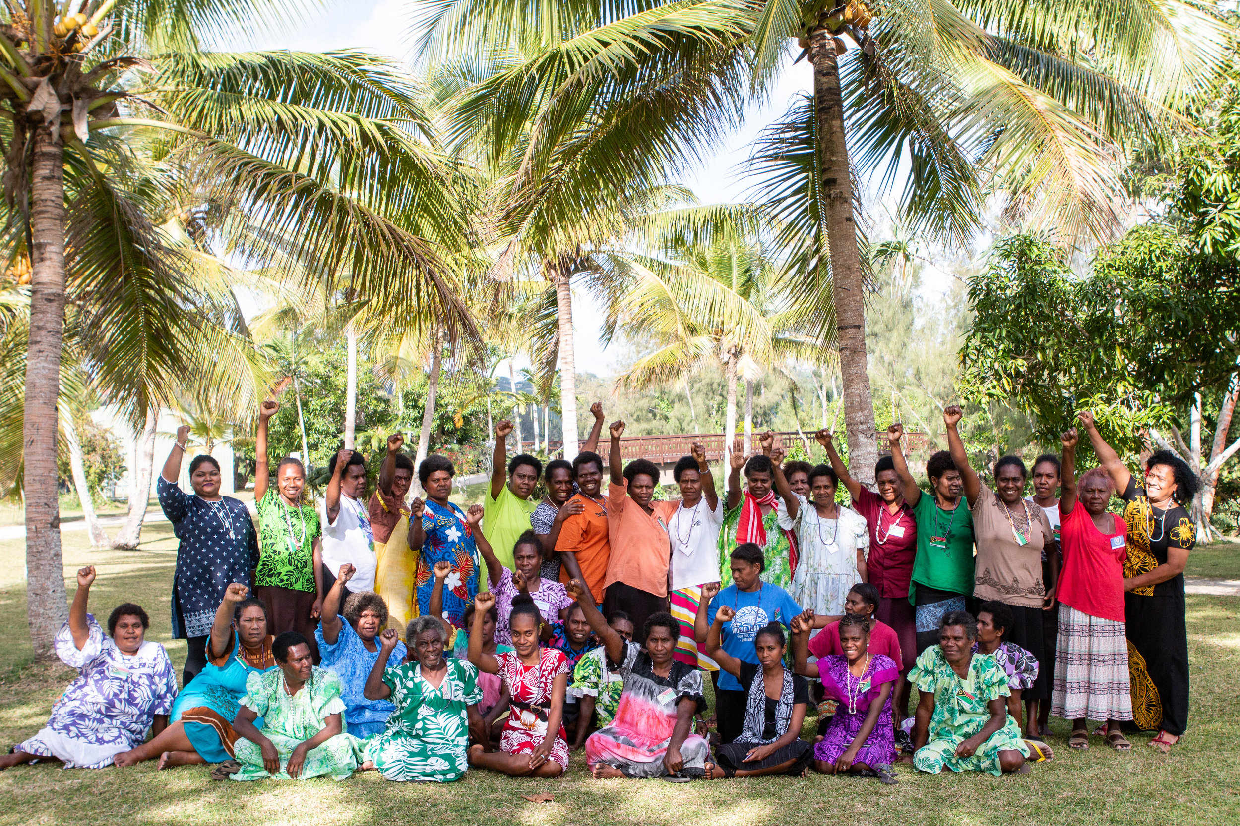 Above: ActionAid's Training of Trainers in Port Vila was attended by 35 women leaders from Women I TokTok Tugetha and 12 women from Shifting the Power Coalition Network, representing six countries in the Pacific. Photo credit: ActionAid