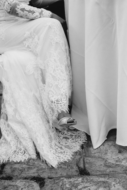 bride sitting on a chair