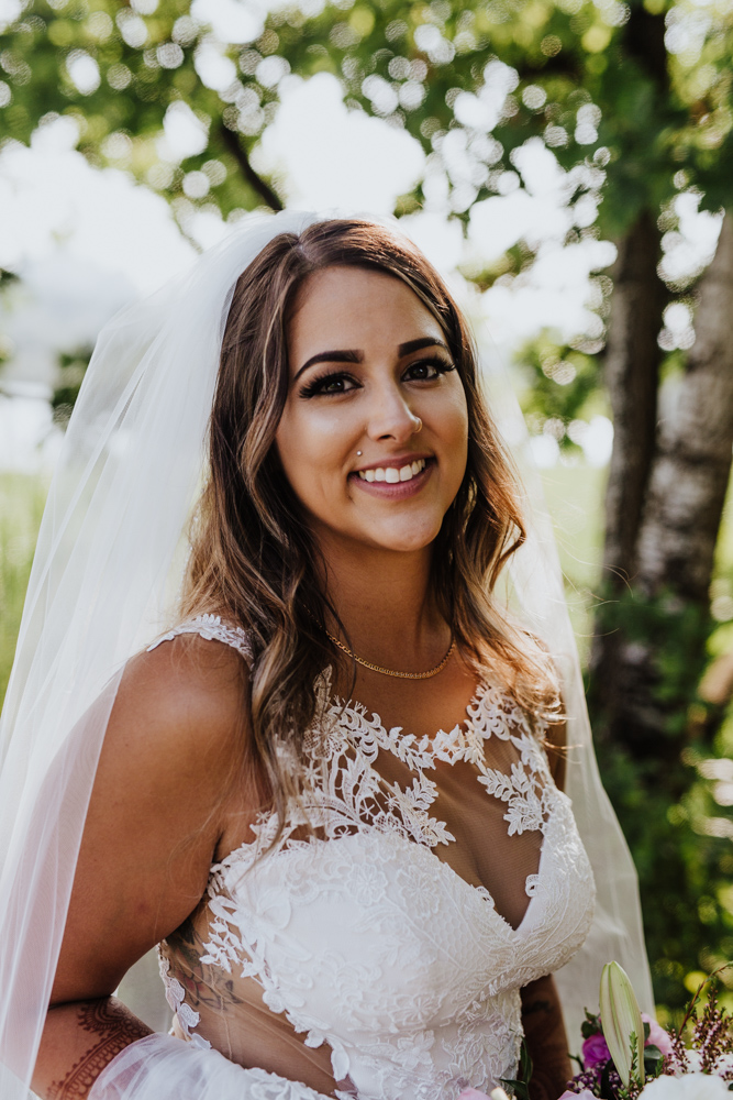 wedding day bridal portrait