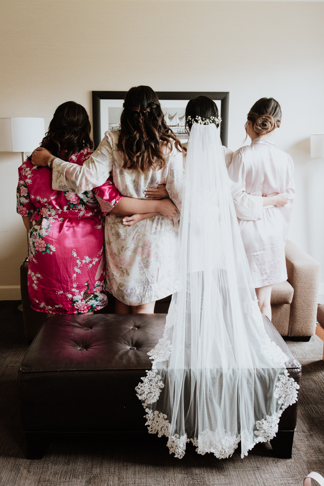 bridesmaids from the back