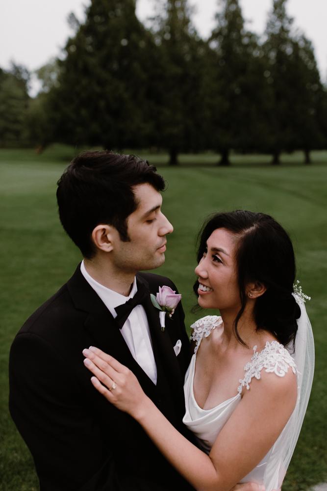 bride groom at golf course