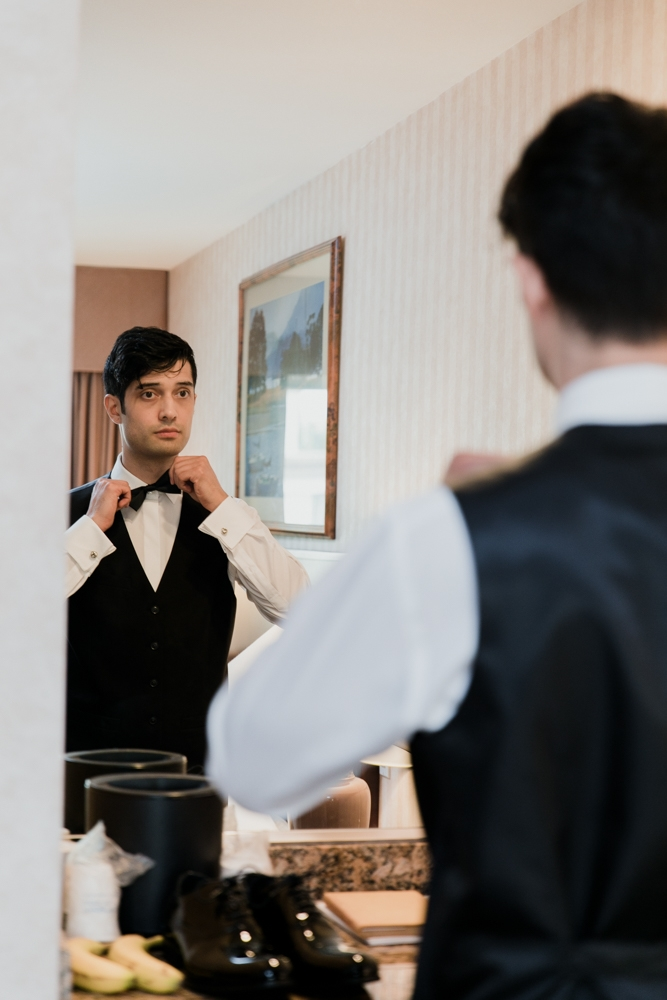 groom preparation