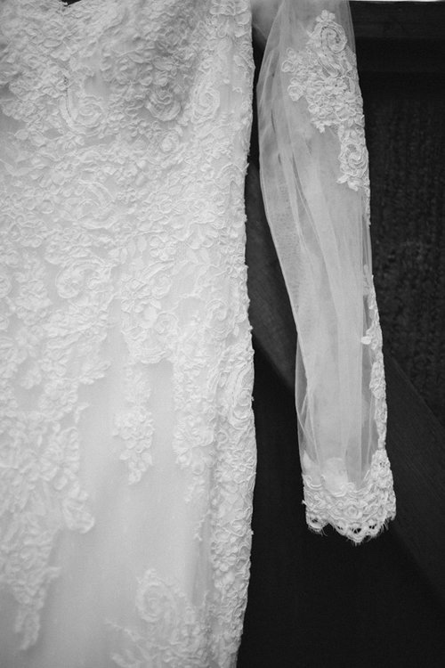 wedding dress portrait
