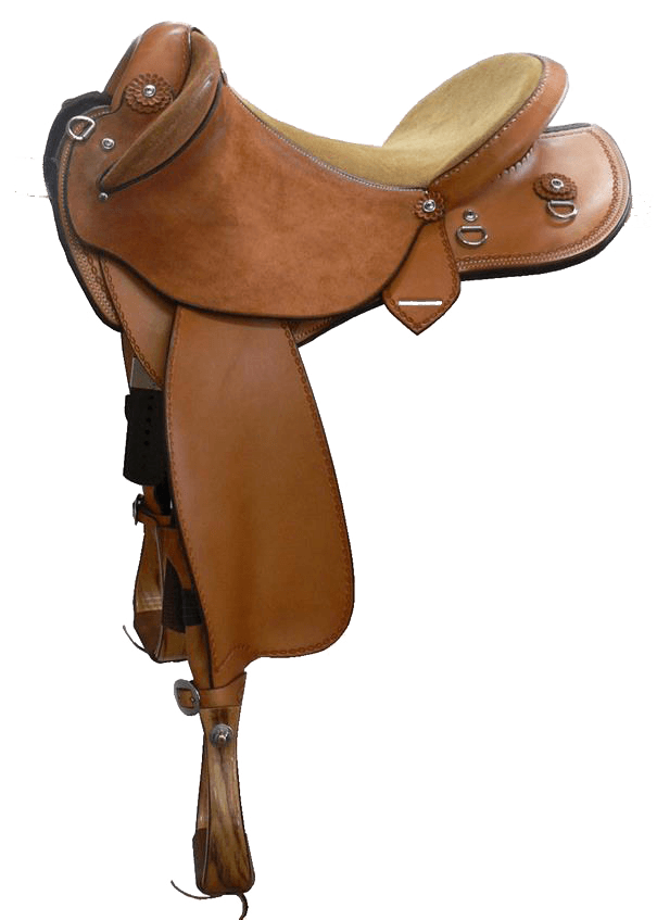 """Western Drafter - This saddle made with:- Natural Leather- Fully Padded Seat (rough out)- Stainless Steel FittingsAll saddles come fitted with Don Orrell 2"""" Flat Bottom Rancher Stirrups & Professional's Choice VenTECH Western Girth. Add ons:- Cheyenne Roll $220- Edge Stamping $55- Stamped Leather Conchos (inc w/ edge stamping)Enquire Now."""