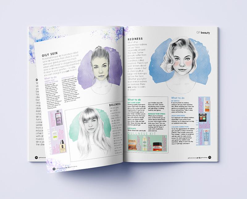 Girlfriend Magazine custom illustrations