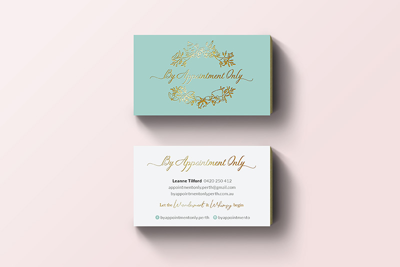 By Appointment Only branding / logo / business card